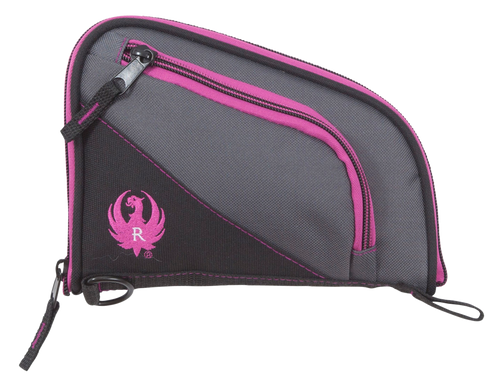 "Allen Ruger Tucson Women's Handgun Case Up to 8"" Black/Gray Orchid Accents Knit"