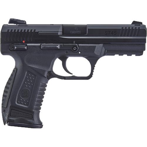 "SAR ST45 45 ACP, 4.5"" Barrel, Black, Steel, Interchangeable Backstrap Grip, 12rd"