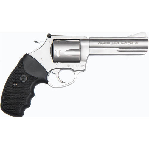 """Charter Arms Pitbull 9mm, 4.2"""" Barrel, Black Rubber Grip, Stainless, 5rd"""