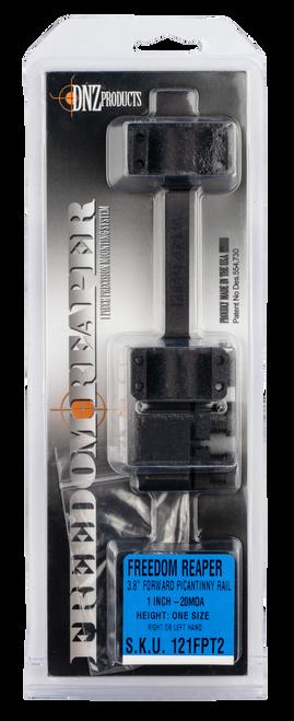 "DNZ Freedom Reaper Mount Picatinny, 1"" Black Aluminum, 20 MOA"