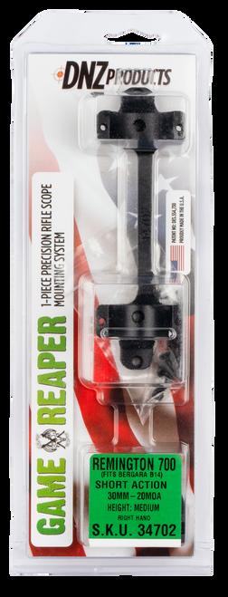 DNZ Game Reaper Mount 20 MOA Remington 700 Short Action 30mm Low, 1-Piece, Matte Black