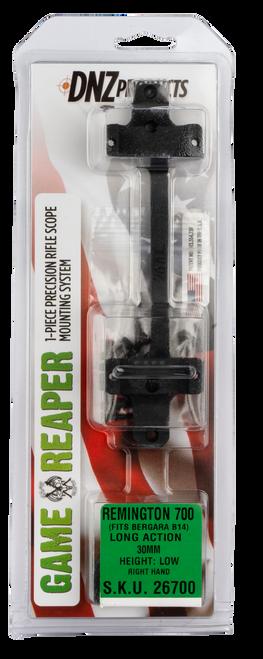 DNZ Game Reaper Mount Remington 700 Long Action 30mm Low, 1-Piece, Matte Black