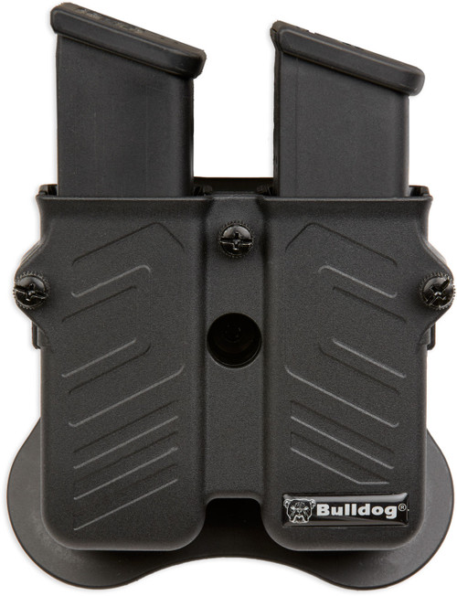 Bulldog Black Polymer Outside Waistband Mag Holder S&W M&P, Glock, Ambidextrous
