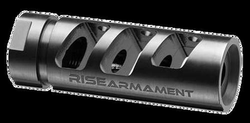 "Rise Armament RA-701 223 Rem/5.56 NATO Compensator 1/2""-28 tpi Black Nitride 416 Stainless Steel"