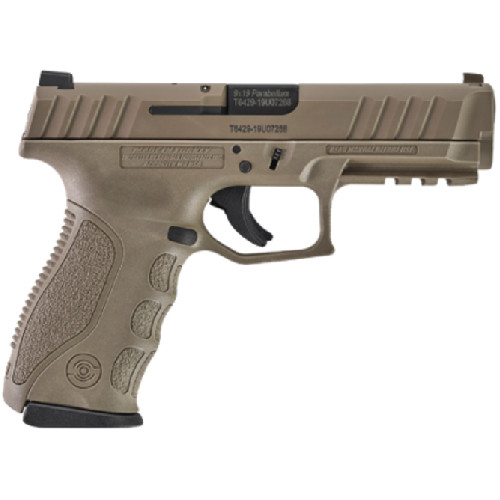"""Stoeger STR-9 9mm, 4.17"""" Barrel, 3x Backstraps, Paddle Holster, FDE, 3x15rd Mags"""
