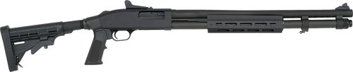 """Mossberg, 590A1, Security Mil-Spec, Pump Action, 12 Gauge, 3"""" Chamber, 20"""" Heavy Wall Barrel, Parkerized Black, 6 Position Adjustable Stock with M-Lok Forend and Adjustable Pistol Grip, 9Rd, Ghost Ring Sight"""