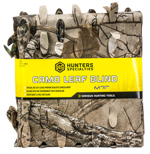 """Hunters Specialties Camo Leaf Blind Realtree Xtra Spun-Bonded Polyester 56"""" x 30'"""