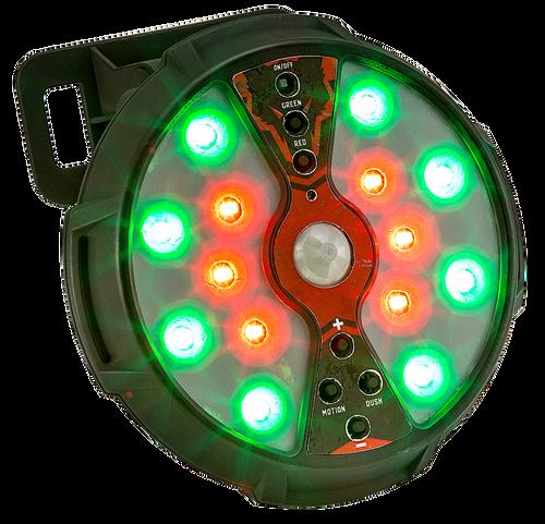 Hunters Specialties Johnny Stewart Feeder/Hog Light 500 Lumens Red/Green LED Polymer Black AA