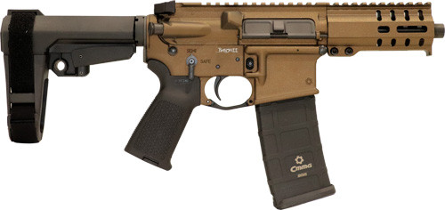 "CMMG Banshee 300 MK4 9mm, 5"" Barrel, Midnight Bronze, Black Magpul Grip, RipBrace, 33rd"