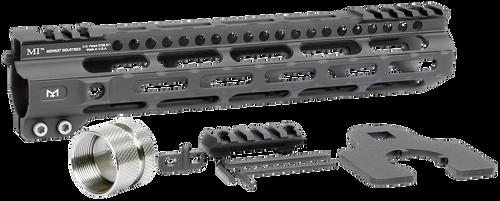 "Midwest Ultralight M-Lok Handguard AR-15 Black Hardcoat Anodized 6061-T6 Aluminum 10.50"""