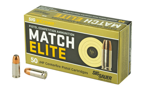Sig Elite V-Crown 9mm 115gr, Jacketed Hollow Point, 50rd Box