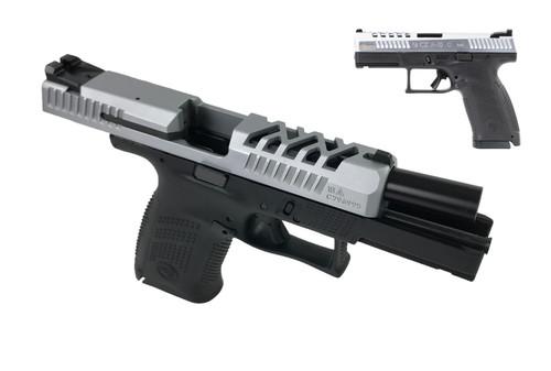 CZ P-10 C 9mm, Exclusive Cajun Gunworks Package, Custom Slide Cuts, 15rd