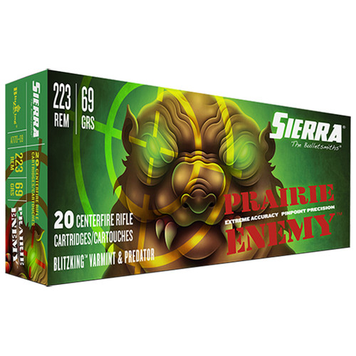 Sierra GameChanger 223 Remington 69gr, Sierra BlitzKing, 20rd Box