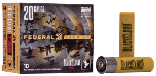 "Federal Black Cloud TSS 20 Ga, 3"", 1oz, 9 Shot, 10rd Box"