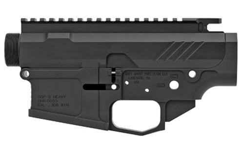 Grey Ghost Precision MKII AR-10 Billet Receiver Set, Black Type III Anodize