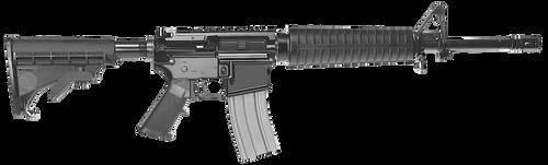 """Del-Ton Sierra 316H 5.56mm, 16"""" Barrel, Black Hard Coat Anodized Adjustable Magpul MOE Stock, 30rd"""
