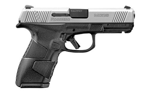"""Mossberg MC-2 Compact 9mm, 4"""" Barrel, Stainless Steel Slide, Two-Tone, Manual Safety, 3 Dot Sights, Flat Profile Trigger, 13rd and 15rd Mags"""