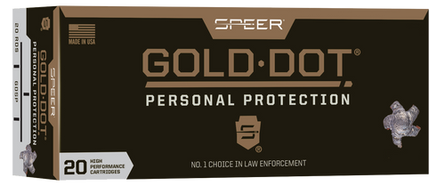 Speer Gold Dot 223 Rem 62gr, Gold Dot Hollow Point, 20rd Box