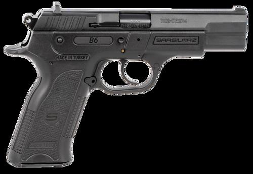 "SAR B6 9mm, 4.50"" Barrel, Black Oxide Steel, Black Polymer Grip, 10rd"