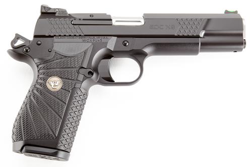 "Wilson Combat 1911 EDC X9L, 9mm, 5"",, , Black Armor-Tuff Black, G10,  15 rd"