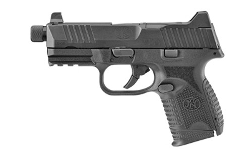 """FN FN509 Compact Tactical 9mm, 4.32"""" Threaded Barrel, Black, Suppressor-Height Night Sights, Optics Ready, 12rd/24rd Mags"""
