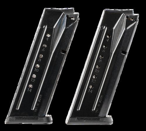 Ruger Security-9 Magazine Value Pack 9mm, 2 Pack, Black Oxide, 15rd