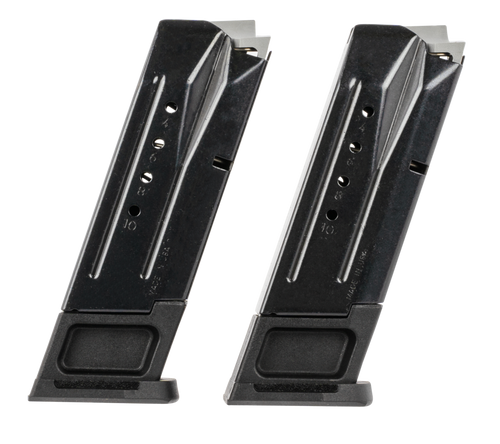 Ruger, (2)Magazines, 9mm, 10Rd, Black, Fits Ruger Security-9
