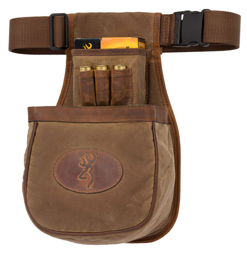 Browning Santa Fe Shell Pouch, Tan Canvas/Leather Adjustable