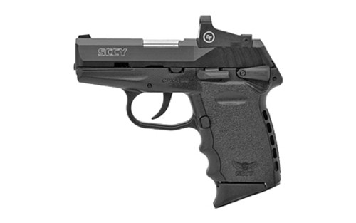 "SCCY CPX-1 Compact 9mm, 3.1"" Barrel, Black, Red Dot, Ambi Safety, 2x10rd Mags"