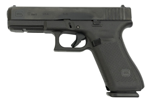 "Glock 17 Gen 5 9mm USA Made, 4.49"" Barrel, Contrast Sights, Black, 17rd"