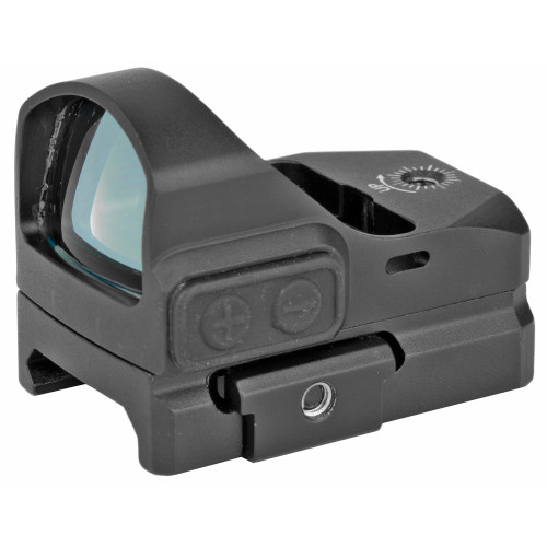 Truglo TRU-TEC Micro Green Dot, 1X23, 3MOA, 23mm X 17mm Multi-Coated Objective Lens, Matte Black, Hardshell Cover and Picatinny Mount, CR2032 Battery Included