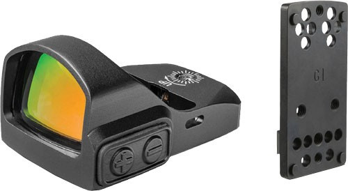 Truglo, TRU-TEC, Reflex, 23x17mm, 3 MOA Red Dot, Black, Compatible with Optic Ready Pistols, Includes Dovetail Mount For Glock