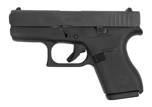 "Glock 42 USA Used .380 ACP, 3.25"" Barrel, Contrast Sights, Black, 2x 6rd"