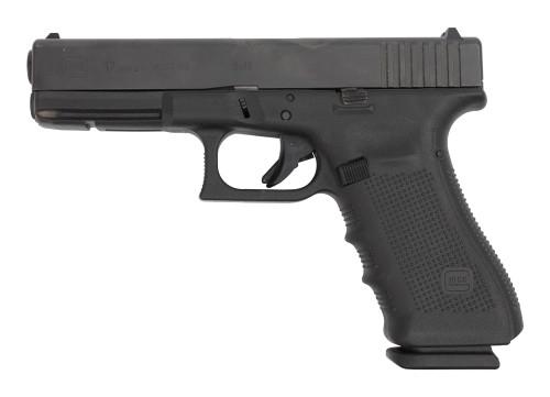 "Glock 17 Gen4 AUS Used 9mm, 4.49"" Barrel, Contrast Sights, Black, 17rd"