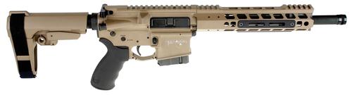 "ALEXANDER ARMS Highlander 50 Beowulf 12"" 7rd Flat Dark Earth Cerakote Black Polymer Grip Adjustable SBA3 Pistol Brace"