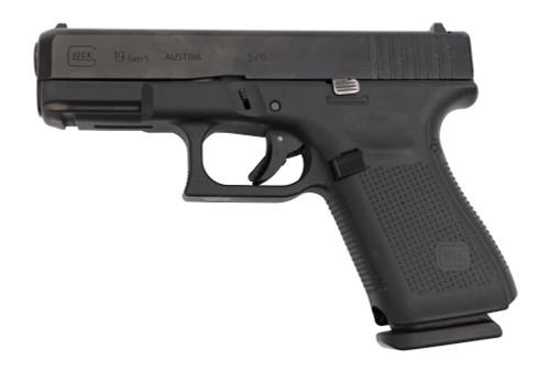 "Glock 19 Gen5 AUS Used 9mm, 4"" Barrel, Contrast Sights, Black, 15rd"