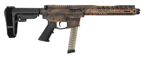 "Black Rain Fallout CQB Pistol 9mm, 8.25"" Barrel, SBA3, Battleworn Bronze, 30rd"