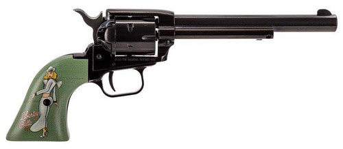 "Heritage Rough Rider Revolver SAA 22  LR 4.75"" Barrel, Liberty Belle Pinup Girl Grips- TALO Exclusive"