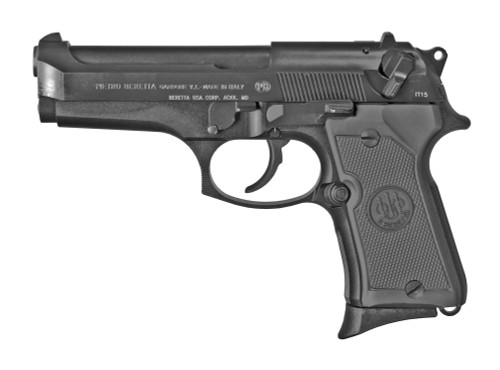 "Beretta 92FS Compact 9mm, 4.25"" Barrel, 3-Dot Sights, Decocker, Black, 13rd"