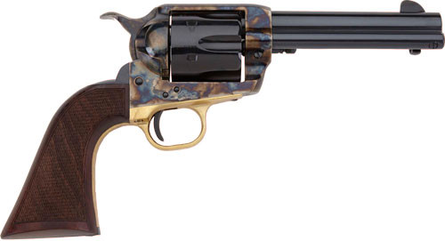 "Pietta 1873 GW2 Alchimista II 45 Colt, 5.50"" Barrel, Blued Color Case Hardened, Steel Walnut Army Checkered Grip, 6rd"