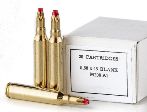 PPU 5.56x45mm M200 A1 BLANK Cartridges, 20rd Box - Not Ammo, These Are Blanks