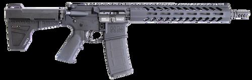 "HM Defense Raider M5AR 223 Rem/5.56mm, 12.5"" MONOBLOC Barrel, Midlength Gas System, Integral Gas Block, 1:8 Twist, Muzzle Brake, Black, Anodized, 10 3/8"" Free Float Rail, M-LOK, Shockwave 2.0 Brace"
