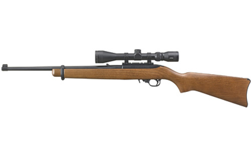 Ruger 10/22 Viridian EON 3-9x40 Scope Combo 22LR, Blued, Wood