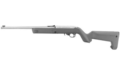 "Ruger 10/22 Takedown 22 LR, 16.4"" Stainless Threaded Barrel, Stealth Gray Magpul X-22 Backpacker Stock, Adj Fiber Optic Sights, 10rd"