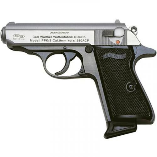 "Walther PPK/S .380 ACP, 3.30"" Barrel, Black Frame, Stainless Slide, 7rd"