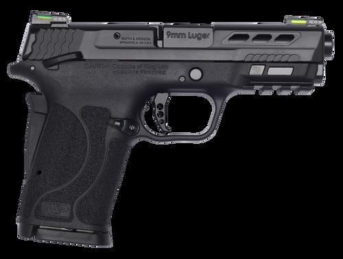 "Smith & Wesson Performance Center Shield EZ Compact, 9mm, 3.8"" Ported Barrel, Thumb Safety, Hi-Viz Litewave H3 Tritium/Lightpipe Sights"