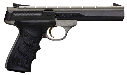 "Browning Buck Mark .22 LR, 5.5"" Barrel, Black Ultragrip RX, Grey, 10rd"