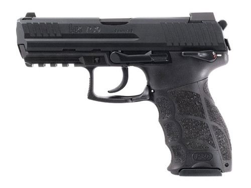 "HK P30S, Semi-automatic, DA/SA, 9mm, 3.85"" Barrel, Polymer Frame, Black, Night Sights, 17Rd, 3 Magazines"
