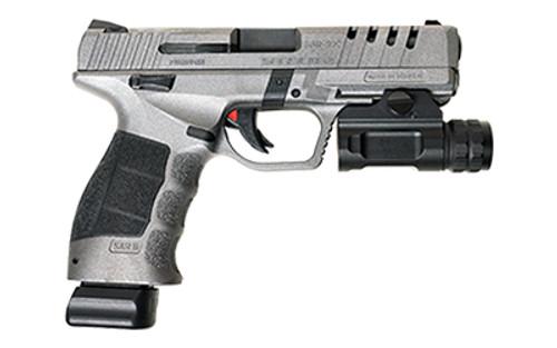 """SAR X-9 Striker Fired Pistol, 9mm, 4.4"""" Barrel, Polymer Frame, Cerakote Platinum Finish, 1-17 Round, 1-19 Round"""