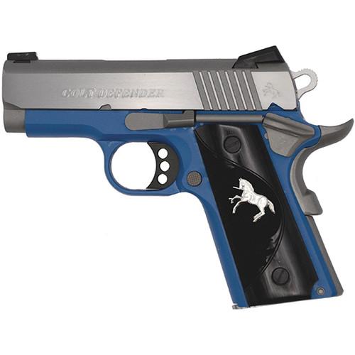 """Colt Defender .45ACP 3"""" Barrel, Blue Frame Stainless Steel 1 of 100"""